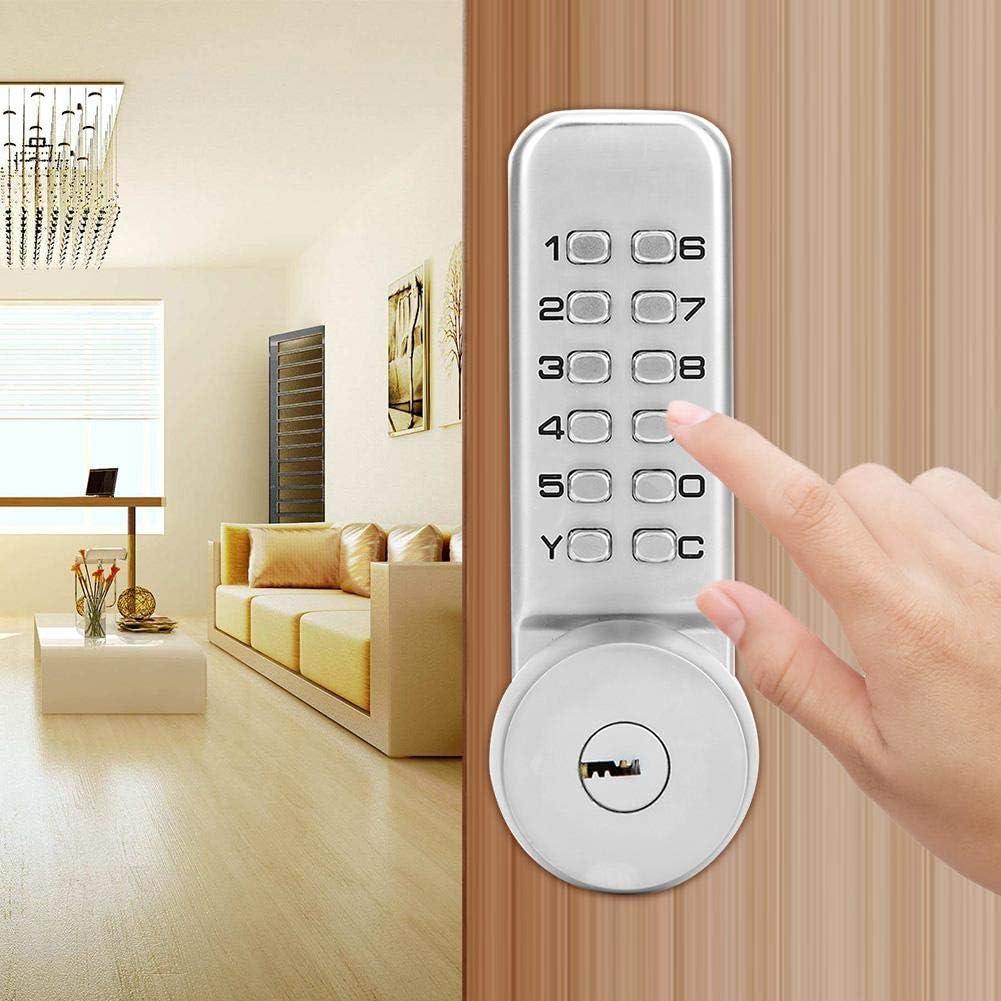 Villas Composite Doors Rental Doors for Home Office 1-11 Digit Combination Lock Mechanical Door Lock Leftwei Keyless Entry