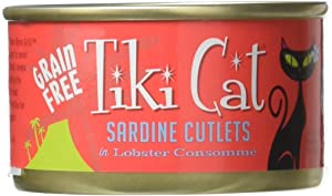 Tiki Cat & Tiki Dog 12/2.8 Oz Cat Grill Sardine Lobster-Bora Bora Cat Food, One Size
