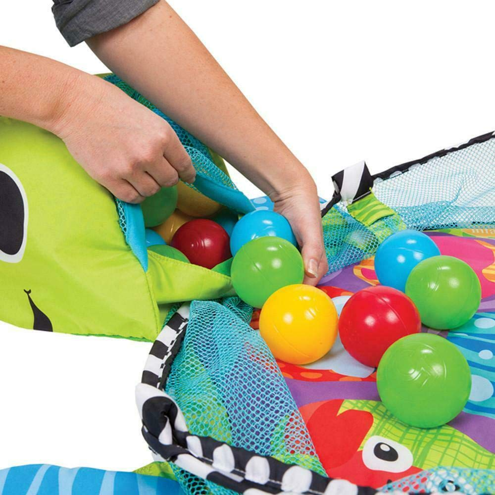 Grow with Me 3-in-1 Baby Play Activity Gym Mat and Ball Pit with Mesh Sides