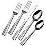 International Silver Arabesque Frost Stainless Steel Flatware, 20-Piece Set, Service for 4