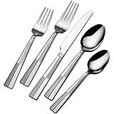 International Silver 5114325 Arabesque Frost 20-Piece Stainless Steel Flatware Set, Service for 4