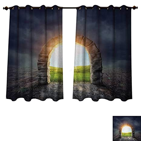 Amazon Com Anzhouqux Fantasy Blackout Thermal Curtain Panel