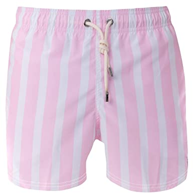 9816e5f417f9c Image Unavailable. Image not available for. Color: Azul Siete Men's Pink  Stripes Swim Trunks