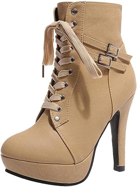 ZARLLE_Botas Zapatos Mujer Mujer Botines de Mujer Botines Cortos ...