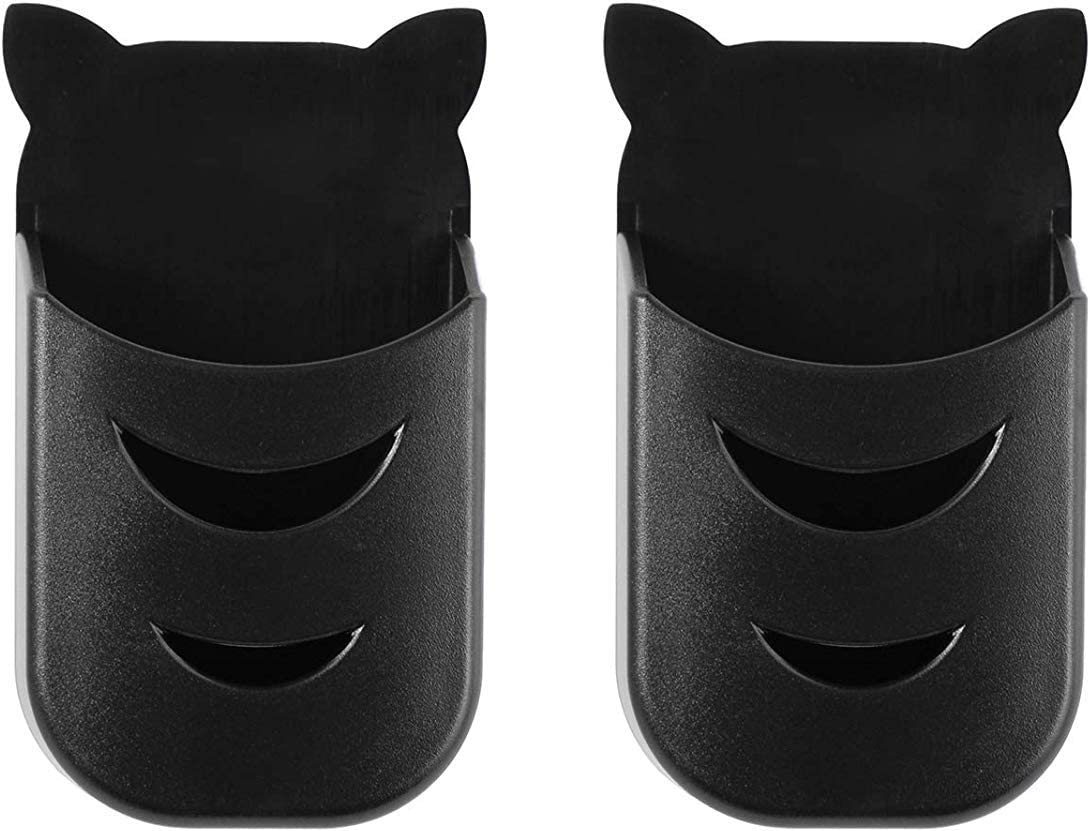 ECLINK Universal Remote Holders for TCL/ Hitachi/ LG/ Sharp/ Insignia/ Sanyo/ Hisense/ Toshiba/ Element/ RCA Roku Remote Black (2 Pack)