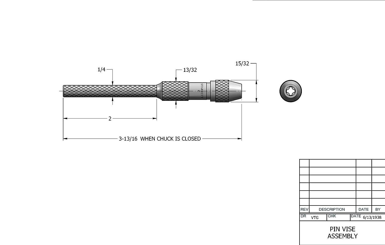 Starrett 162A Pin Vise 0-0.040 Range
