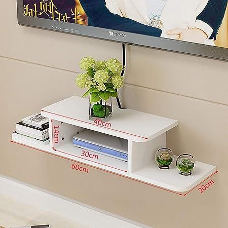 XINGPING-Shelf Estante Conjunto de Pared para televisor Rack de Pared Rack montado sin Pared Rack WiFi Rack Estante de TV por Cable (Color : White Board, Tamaño : 60cm): Amazon.es: Hogar