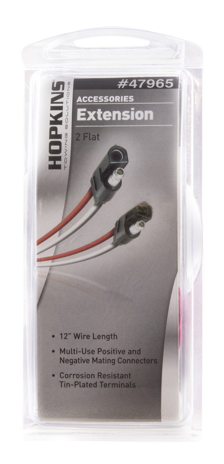 Hopkins 47965 2 Pole Flat Extension Automotive Double Trailer Wiring Harness Ground
