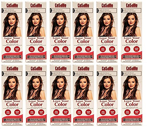 CoSaMo - Love Your Color Non-Permanent Hair Color 775 Light Ash Brown - 3 oz. (Pack of 12) + FREE Travel Toothbrush, Color May Vary by CoSaMo