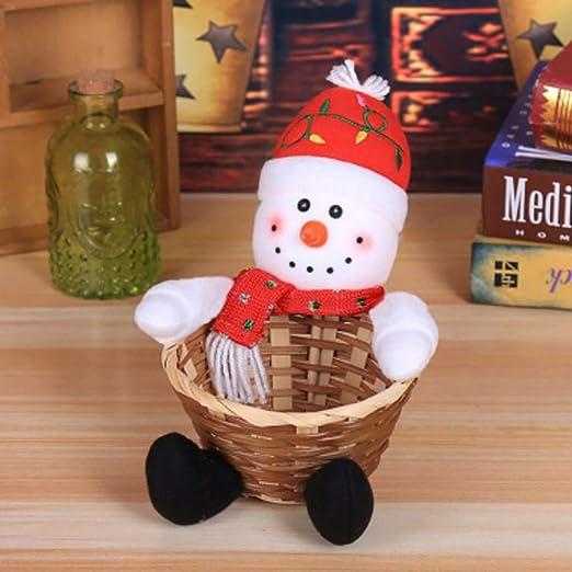 Handfly Decoración de Navidad Santa y Muñeco de Nieve Adorno ...