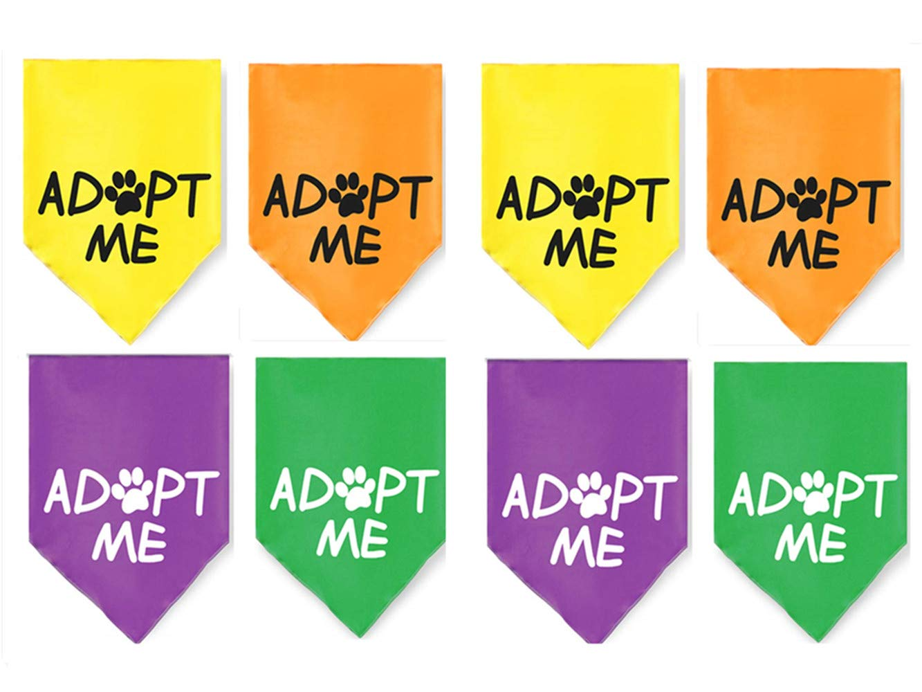 JPB 8 Pack Adopt Me Bandanas for Small Dogs by JPB