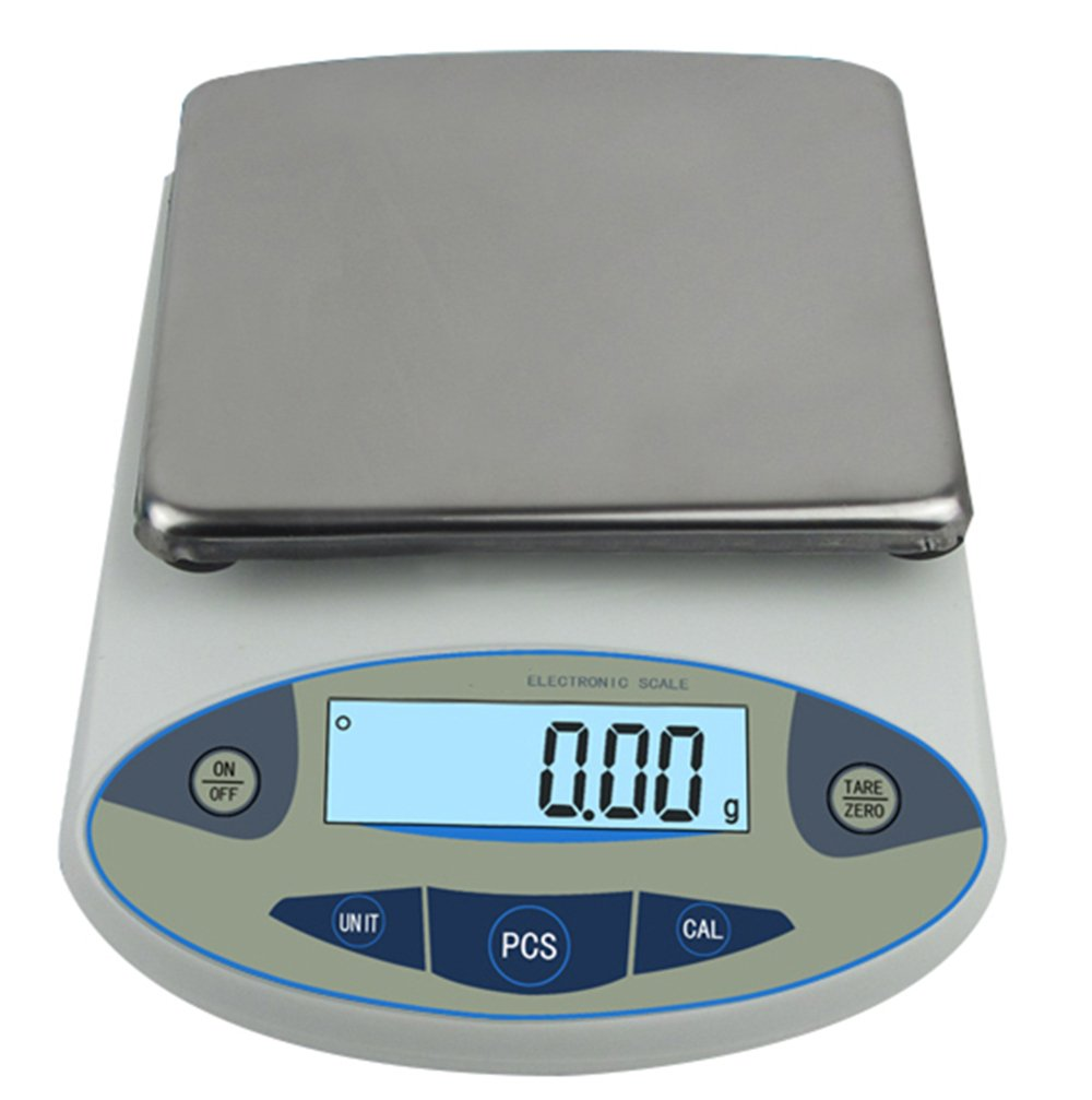 High Precision Lab Analytical Electronic Balance Digital Precision Scale Laboratory Precision Weighing Electronic Scales Balance Jewelry Scales Gold Balance Kitchen Scales (5000g, 0.01g)