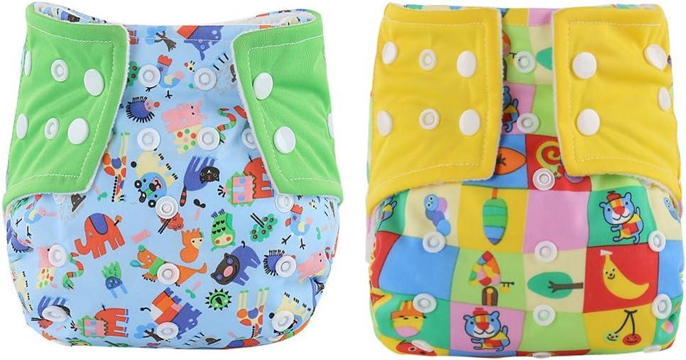 WeiterVor 2 Pcs Bambino Pannolini Nuoto Lavabili Riutilizzabile pantaloncini Costume da bagno Nuotata breve Breveregolabile Mutanda 0-3 anni