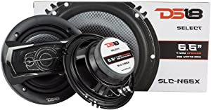 """DS18 SLC-N65X Coaxial Speaker - 6"""", 4-Way Speaker, 200W Max Power, 50W RMS, Woofer, Midrange, and Tweeters in one, Removable Cover Included - SELECT Speakers Provide Undiscovered Value - 2 Speakers"""