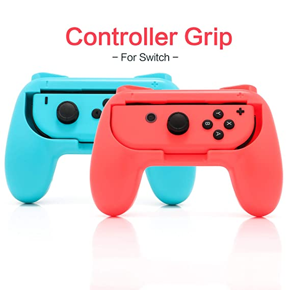 2019 Grip Kit for Nintendo Switch Joy Con Controller, Nintendo Switch  Accessories Joy Con Grip - BlueRed (2 Pack)