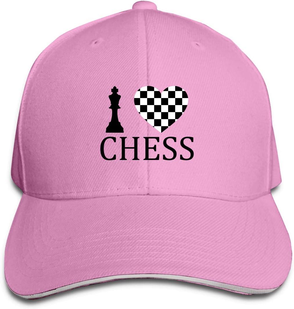WFIRE Adult Baseball Caps I Love Chess Custom Adjustable Sandwich Cap Casquette Hats