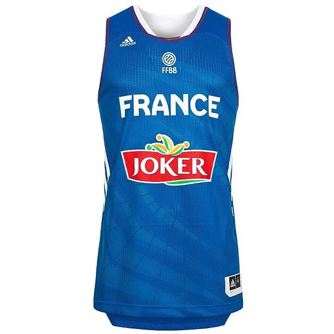 Adidas Francia Camiseta de Baloncesto Selección, Color Weiß, tamaño XXXL: Amazon.es: Ropa y accesorios