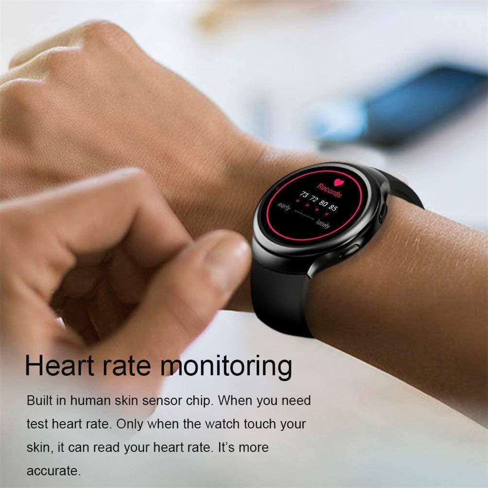 JASZHAO Relojes Inteligentes Relojes Inteligentes Relojes Android 1GB + 16GB Detector de Ritmo cardíaco GPS WiFi Bluetooth Reloj,A: Amazon.es: Hogar