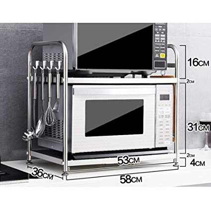 Amazon.com: HJSS Soporte para horno de microondas, estante ...