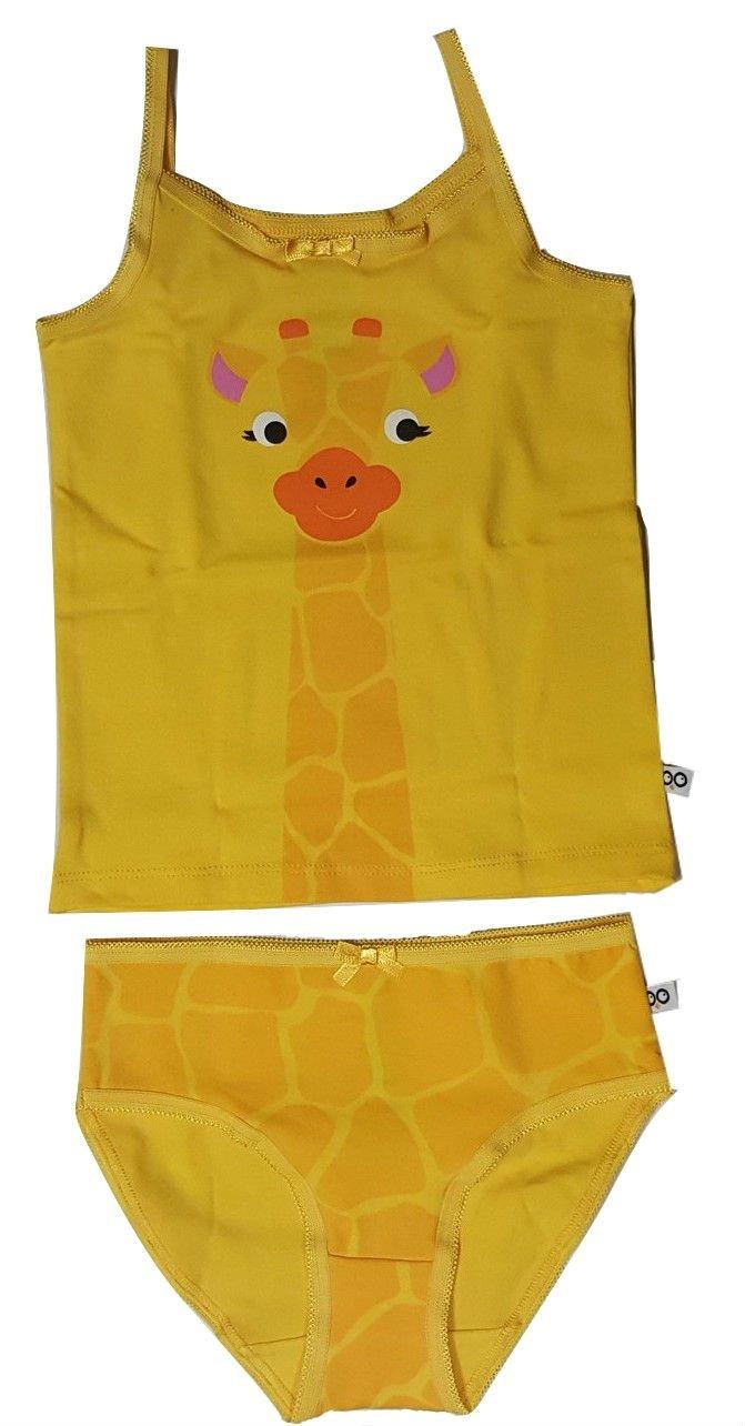 Zoocchini insieme ragazza Canottiera/Culotte motivo giraffa giallo 5–6anni 132 (5-6 Years)
