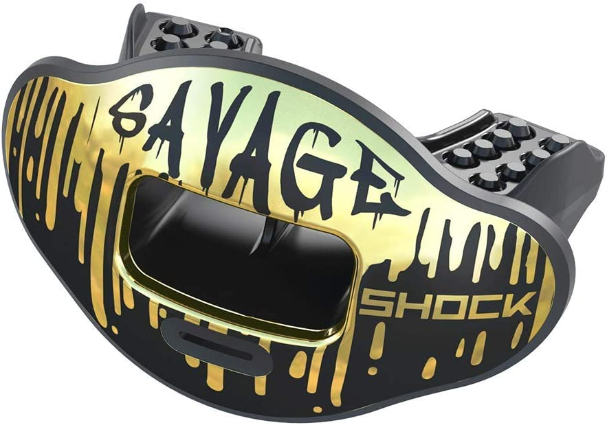 Shock Doctor Max Airflow Lip Guard, Football Mouth Guard w/ Detachable Helmet Strap
