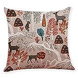 Pgojuni Cotton Linen Square Home Decorative Throw Pillow Case Sofa Waist Cushion Cover Sofa/Couch 1pc 45X45 cm (A)