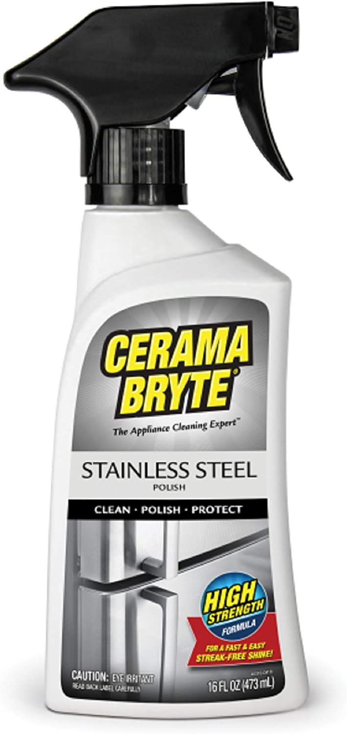 (2 Pack) Cerama Bryte Stainless Steel Cleaning Polish Trigger Spray Cleaner, 16 oz. Each