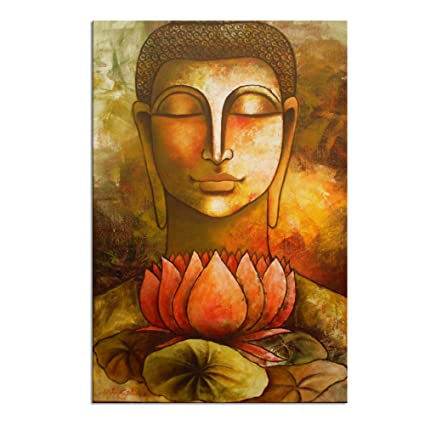 Amazon Com Canvas Wall Art Prints Peaceful Buddha Canvas Painting