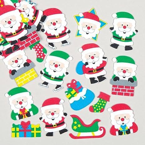 Baker Ross Set Di Adesivi In Gommapiuma Con Babbo Natale Per Bambini