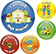 70 100th Day of School Reward Praise Stickers Teacher Parents Children