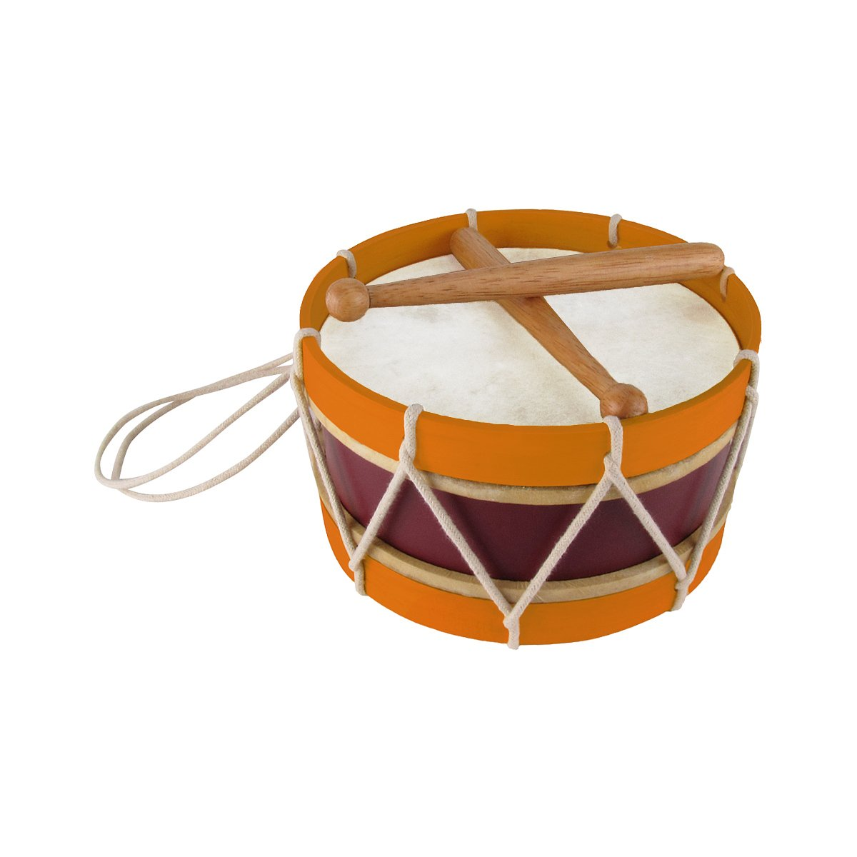 Revolutionary/Civil War Era Reproduction Marching Band Wooden Snare Drum by TreasureGurus, LLC
