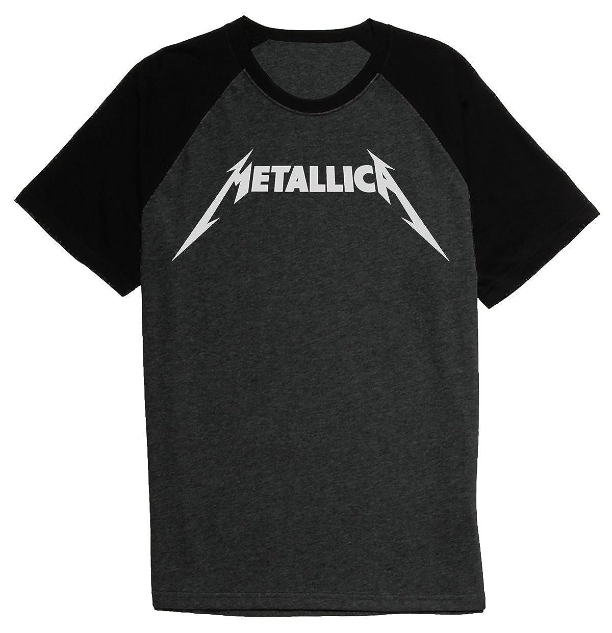 Metallica Metal Band Original Logo Baseball Tee Raglan S T Shirt