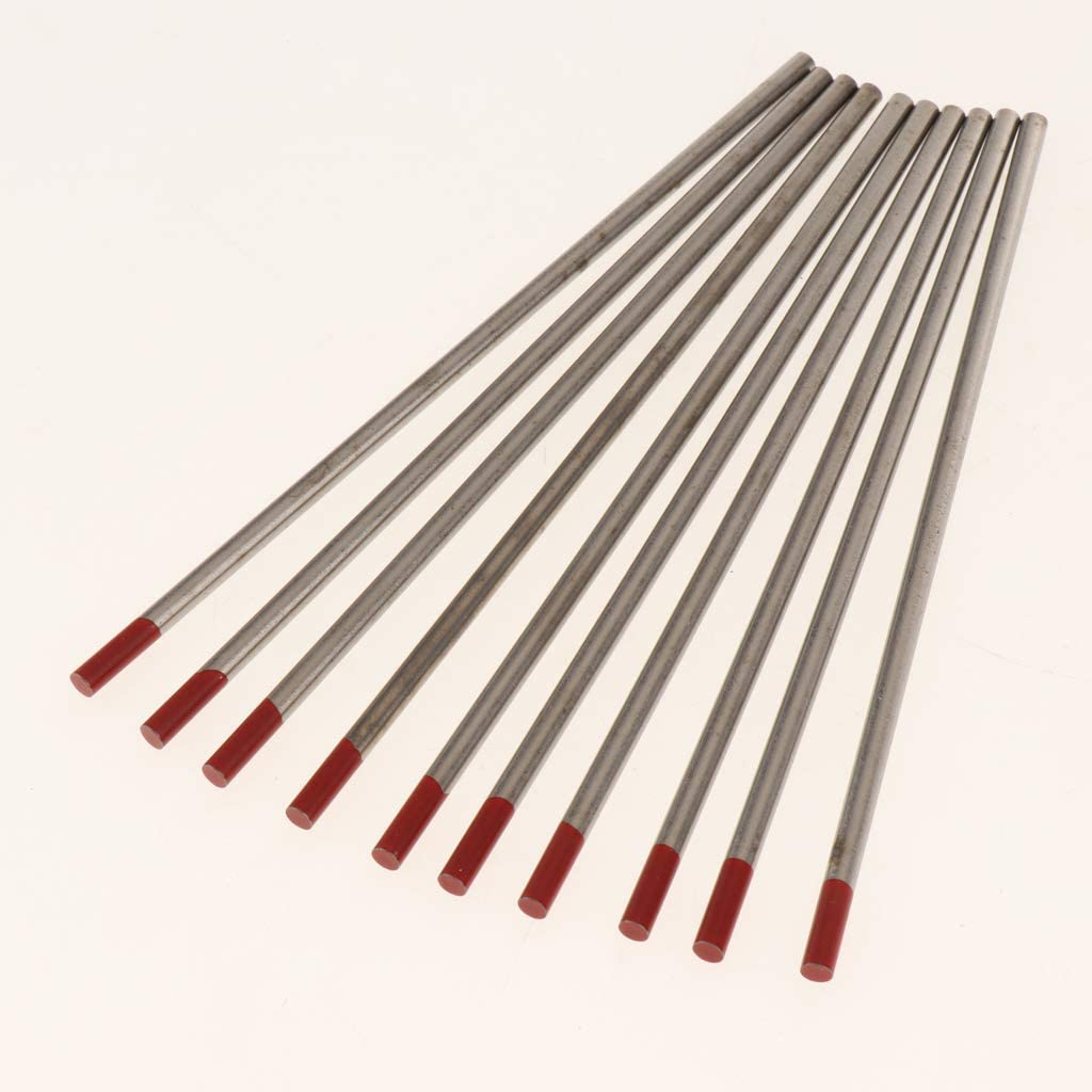 2.4mm Almencla 10Ps 150mm WY20 Red Thoriated Tungsten for TIG Arc Welding 2.4-4mm
