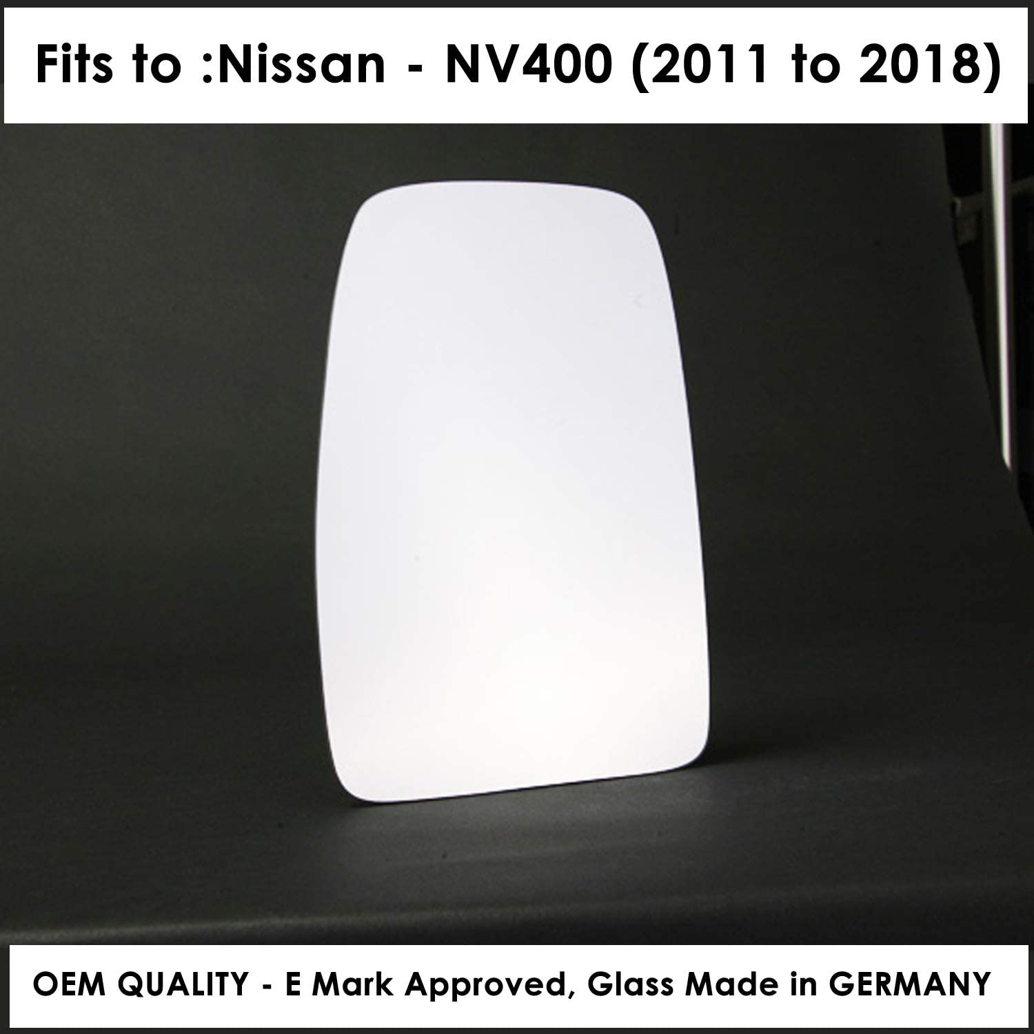 Heated NINV400 2010 to 2017 Silver Wing//Door Mirror Glass Including Base Plate LH Passenger Side Slide on fitting