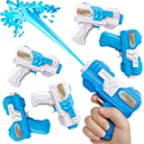 D-FantiX Water Gun 6 Pack, Water Blaster Soaker Small Squirt Guns Bulk for Water Fighting Summer Pool Beach Party Favors Toy for Kids Boy Girl