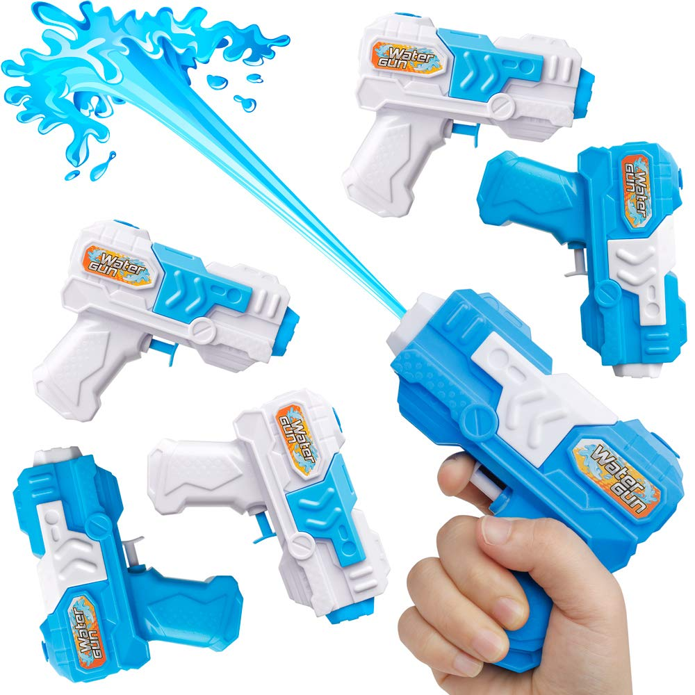 D-FantiX Water Gun 6 Pack, Small Water Blaster Soaker Squirt Guns Bulk for Water Fighting Summer Pool Beach Party Favors Toy for Kids Boy Girl by D-FantiX