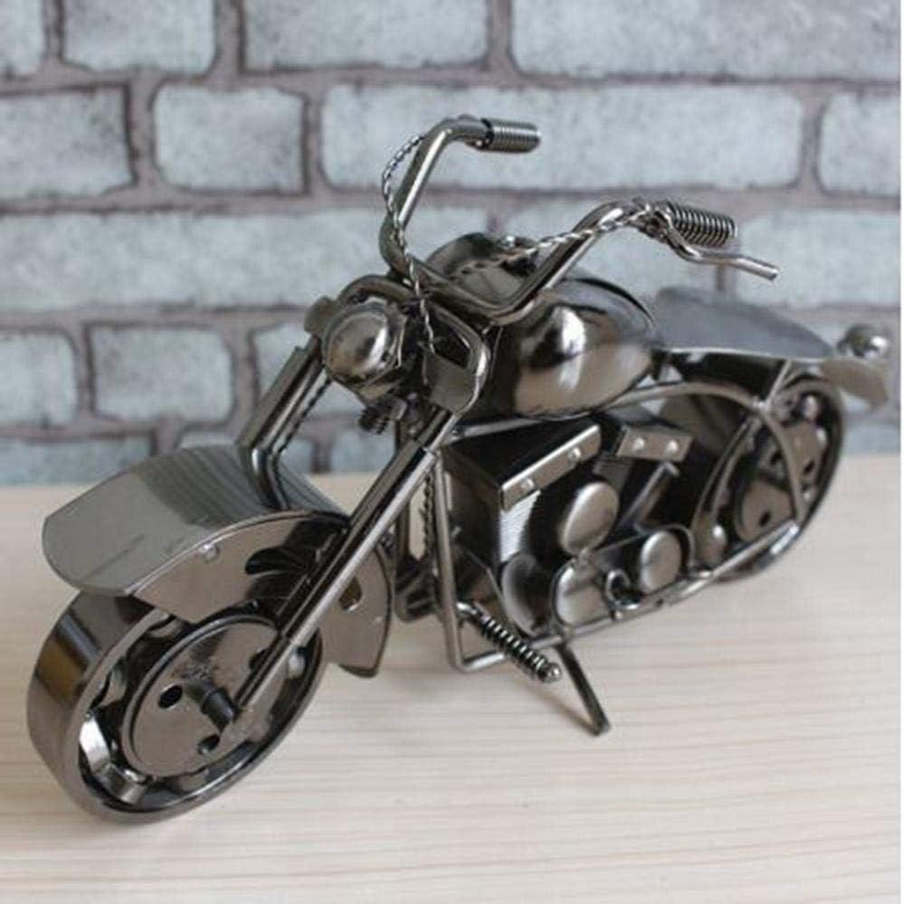 klkll Modelo de Metal Motocicleta Metal Escultura Hierro Arte Moto Decoración para el hogar Modelo 27x8x15cm Gran cumpleaños niños Amigos