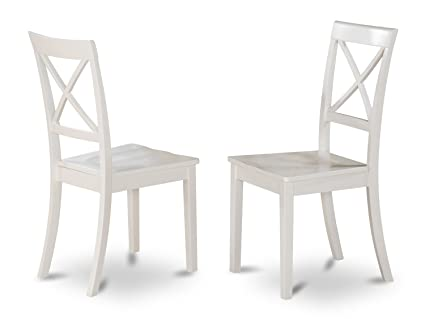 East West Furniture BOC WHI W X Back Chair Set For Dining Room