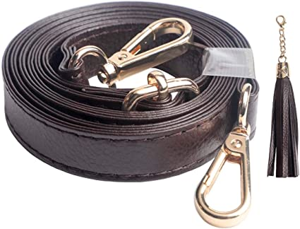 Dark Brown with Gold Clasp Purse Chain Strap by Beaulegan Adjustable 51 inch Long and 0.8 inch Wide Replacement for Shoulder and Crossbody Bag