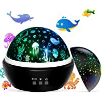 Newest Baby Kids Night Light Projector, Ocean Constellation Night Lights Projector Lamp, Rotating and Colorful Mood…