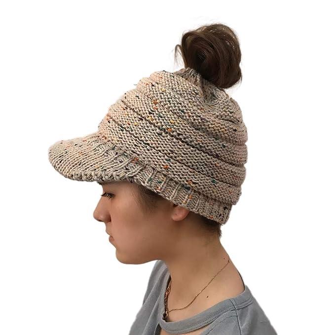 Quaan Frau Mädchen kreativ Beiläufig Draussen Gestrickt Hüte Häkeln ...