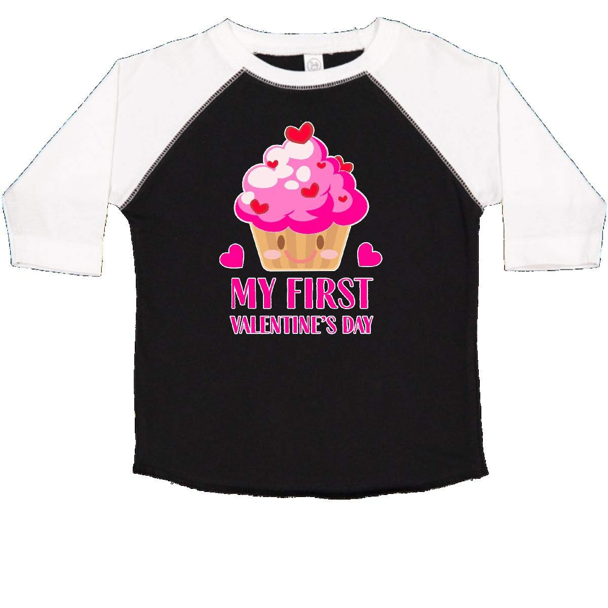 inktastic My First Valentines Day with Cupcake Toddler T-Shirt