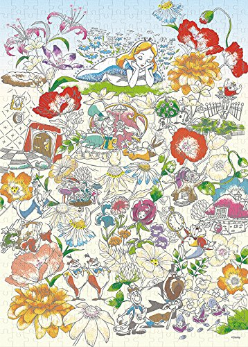 EPOCH Alice Floral Daydream [Puzzle Decoration] of The country's 500-piece Jigsaw Puzzle Wonderland (38x53cm)
