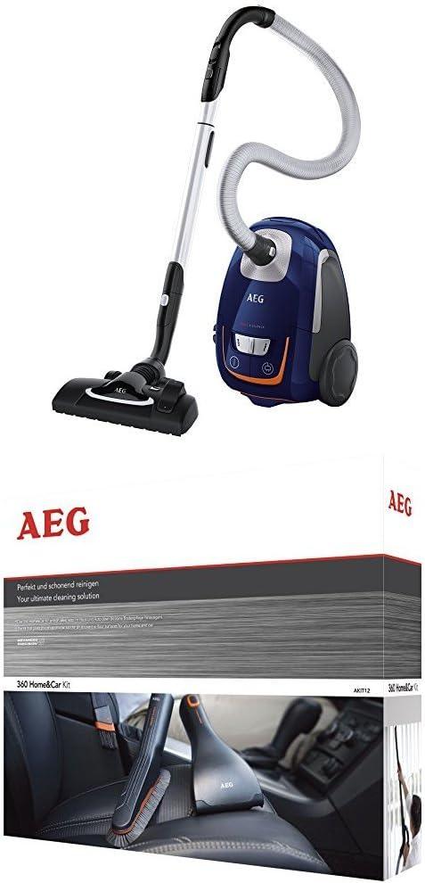AEG VX8 Silence Aspiradora con bolsa silenciosa, color azul ...