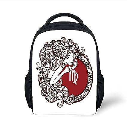 Amazon.com  iPrint Kids School Backpack Virgo 4b6e3ea66f2d4