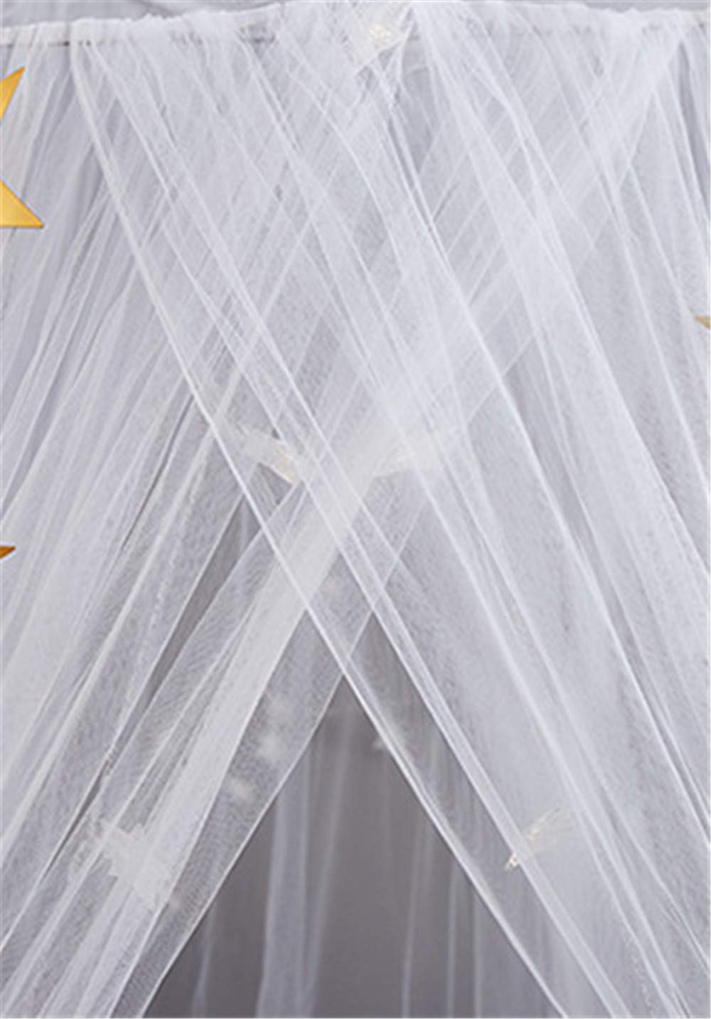 EVDAY Romantic Princess Style White Bed Canopy with Lights for Girls Kids Play Tent Hanging Mosquito Net Curtain for Kids Room Decoration by EVDAY (Image #6)