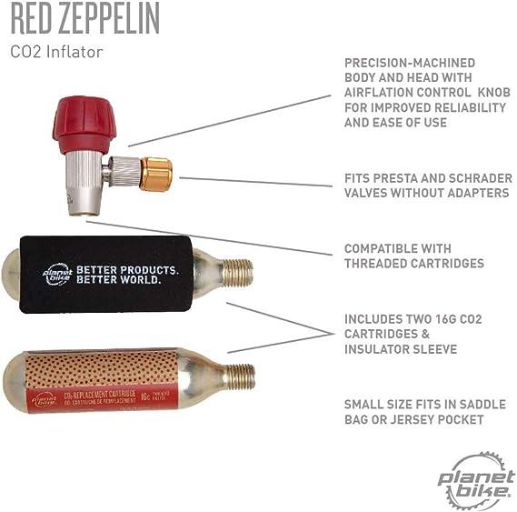 1119 Planet Bike Red Zeppelin Co2 Bike Tire Inflator Metal Head Only
