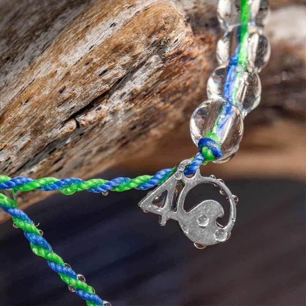 4OCEAN Bracelet ADJ Blue//Clear