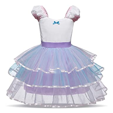 e3bda67ff64f Amazon.com  KONFA Toddler Baby Girls Party Bridesmaid Layered Dress ...