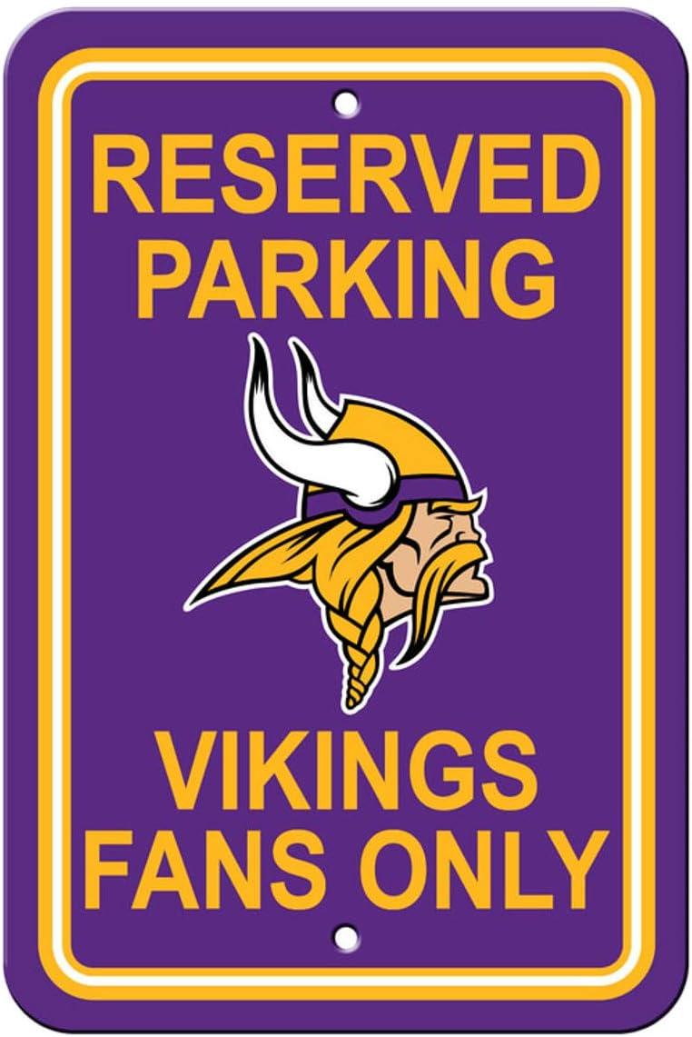 Fremont Die Official National Football League Fan Shop Authentic NFL Parking Sign (Minnesota)